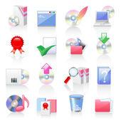 Software and application icons — Stock Vector