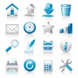 Icons for web applications and services — Stock Vector