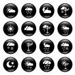 Weather icons - Stok Vektör