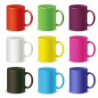 Colored cups - Stock Vector