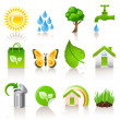 Ecology concept icons — Stock Vector
