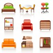 Furniture icons — Stock Vector #8579898