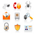 Security icons — Stock Vector #8813000