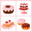 Sweet pastry — Stock Vector