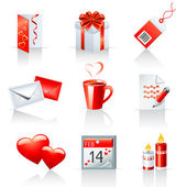 St. Valentine's Day icons — Stock Vector