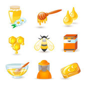 Honey and beekeeping icons — Stock Vector
