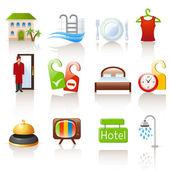 Hotel pictogrammen — Stockvector