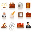 Law icons — Vector de stock #8988081