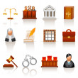 Law icons — Vettoriale Stock #8988081