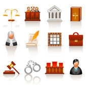 Law icons — Vettoriale Stock