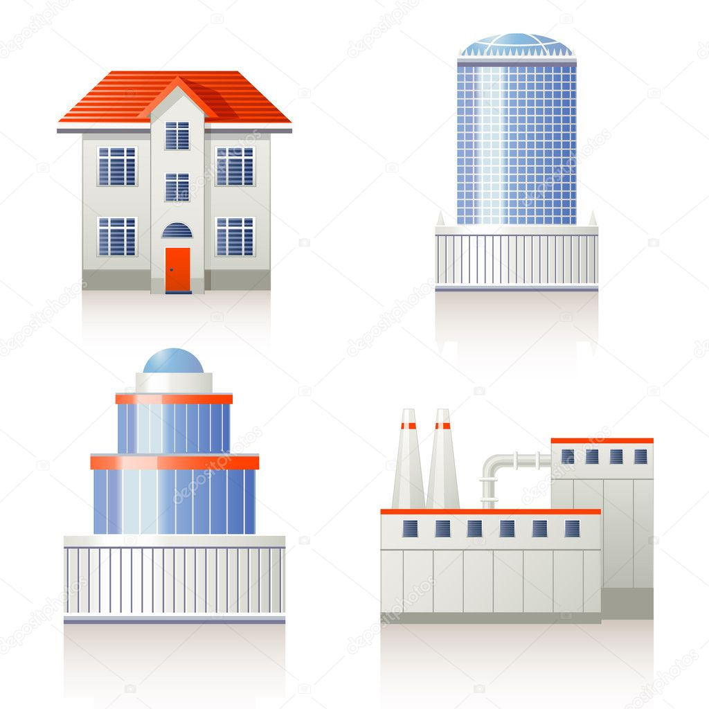 Building icon set  Stock Vector #8988095