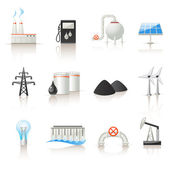 Power industry icons — Stock Vector