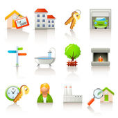 Real estate icons — Stock Vector