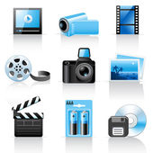 Photo and video icons — Stock Vector