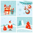 Stock Vector: Christmas & New-Year's card set