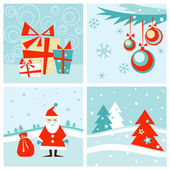 Christmas & New-Year's card set — Stock Vector