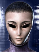 Alien human hybrid — Stock Photo
