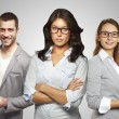 Stock Photo: Young and successful business team in an office