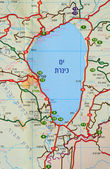 Israeli map. — Stock Photo