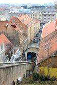 Die seilbahn in zagreb, kroatien — Stockfoto