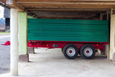Green Red Trailer — Stock Photo