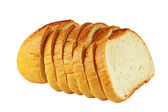 Bread, isolated on a white background. — Stock Photo