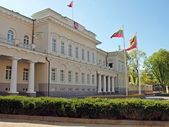 Lithuanian president palace in Vilnius, capital of Lithuania — Stock Photo