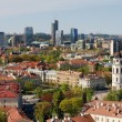 Vilnius old city red roofs and skyscrapers — Stock Photo #10591568