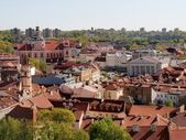 Vilnius hall place - center of old capital city — Stock Photo