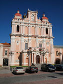 Church in ancient Vilnius city - capital of Lithuania — Stock Photo