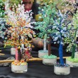 Toys and nature immitation - exotic trees — Stok Fotoğraf #9954152