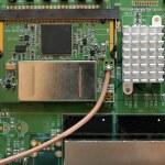 Printed circuit board of WiFi radio technology — Stock Photo