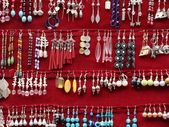 Earrings collection - different size and forms — Stock Photo