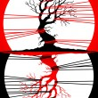 Royalty-Free Stock Imagen vectorial: Tree ecology poster, vector