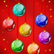 Decorative christmas balls — Vector de stock