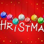 bolas de Natal decorativa com título — Vetorial Stock