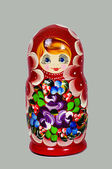 Russian Matryoshka — 图库照片