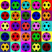 Warhol footballs — Stock Vector