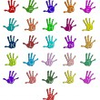 Colorful hand alphabet - Stock Vector