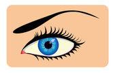 Zamknąć oko piękny — Wektor stockowy