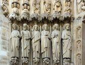Os apóstolos, notre-dame de paris (França) — Fotografia Stock