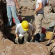 Stock Photo: Scientists conducting archaeological excavations