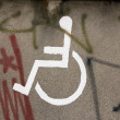 Space reserved for handicapped — Stok fotoğraf