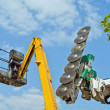 Stock Photo: Chainsaw and cherry-picker