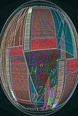 Matematycznej abstrakcji — Zdjęcie stockowe