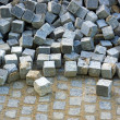 Blocks of granite stored — Stock Photo #8385626