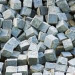 Blocks of granite stored — Stock Photo