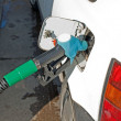 Car at the gas pump — Stock Photo