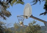 Basketball in a outdoor park — Stock Photo
