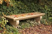 Bench in the autumn — Stock Photo